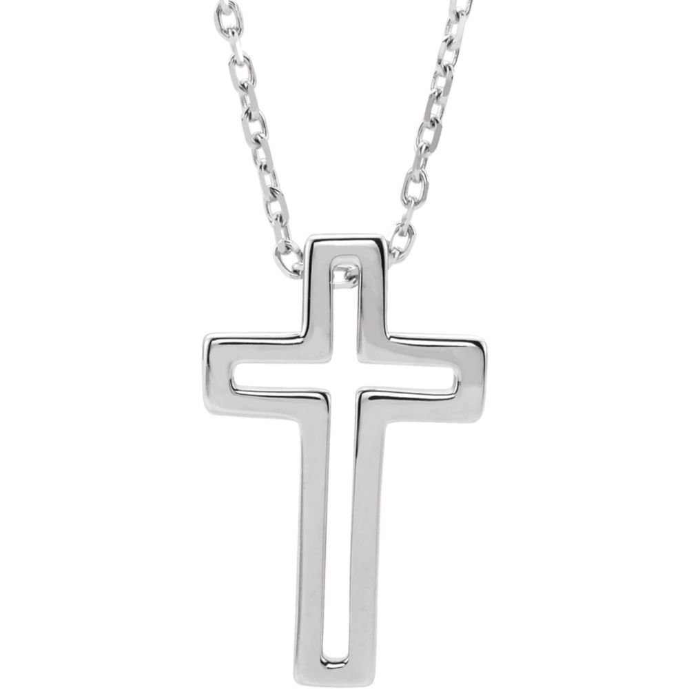 Sterling Silver Open Cross Necklace