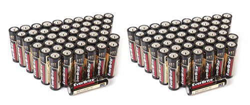 EverBrite 96-Pack Alkaline AA Battery