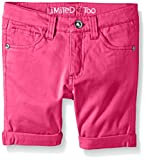 Limited Too Big Girls' Stretch Sateen Twill Bermuda Short, Hot Pink, 07