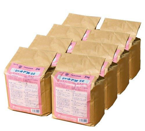 ムカデヤスデ駆除用殺虫剤 シャットアウトSE 3kg(8袋セット) B00IYL3ESM