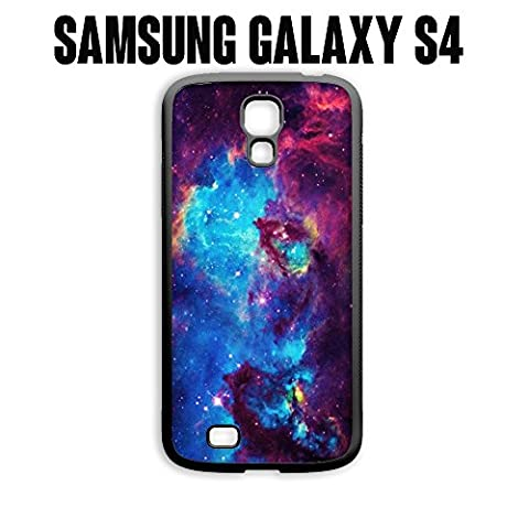 Phone Case Galaxy Universe for Samsung Galaxy S4 Rubber Black (Ships from CA) (Galaxy S4 Phone Case Universe)
