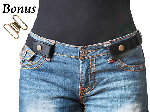 "No Buckle Stretch Belt For Women/Men Elastic Waist Belt Up to 36"" for Jeans Pants -"