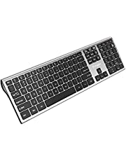 $22 Get Vitalitim Wireless Keyboard,Ultra Slim Computer Keyboard with 2.4GHz Wireless Connection Technology and Numeric Keypad Support Laptop Desktop PC Tablet Silver
