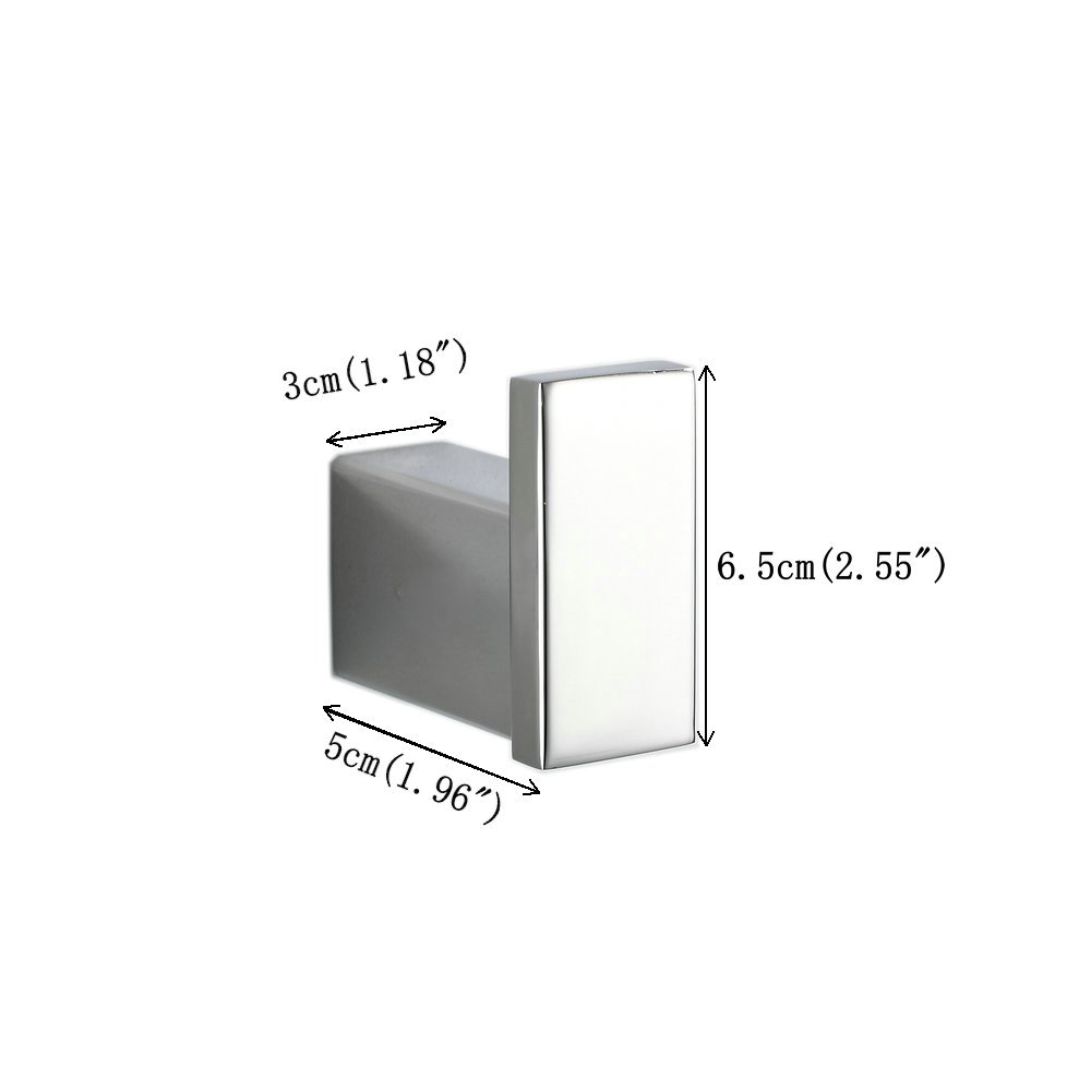 Porte-serviettes Mural Double Barre,60cm,Chrome Inox Beelee BA8002SC