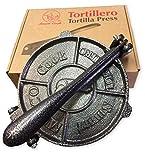 Heavy Gauge Cast Iron Corn And Flour Tortilla Roti Flatbread Press