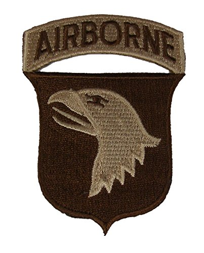 101ST AIRBORNE DIVISION UNIT PATCH - Desert/Tan - Veteran Owned Business
