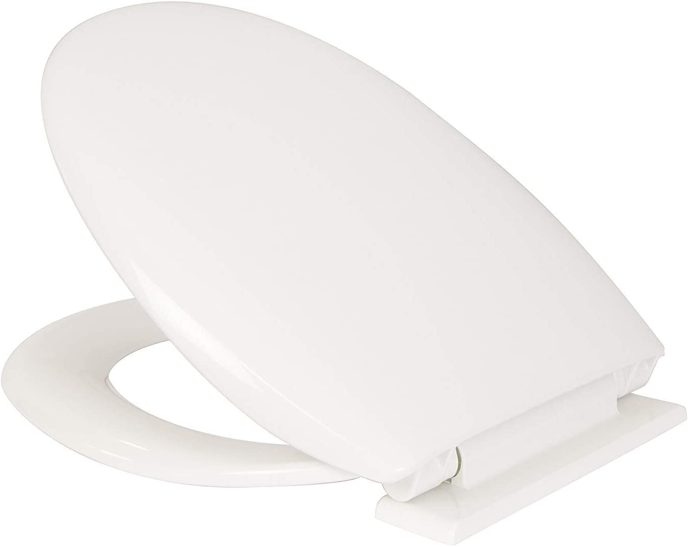 2X Anti-Bacterial Toilet Seat with Soft Close Hinges Made from Resilient Polypropylene, White