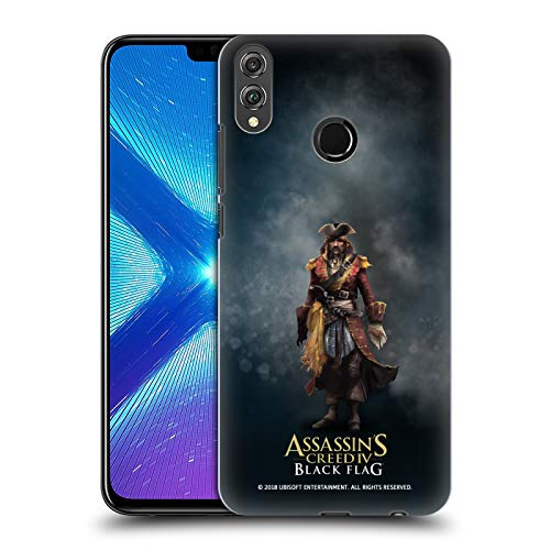 Official Assassin's Creed Bartholomew Roberts Black Flag Characters Hard Back Case for Huawei Honor 8X / View 10 Lite