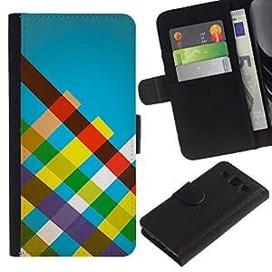 JackGot ( Rayas del arco iris ) Samsung Galaxy S3 III i9300 i747 la tarjeta de Crédito Slots PU Funda de cuero Monedero caso cubierta de piel