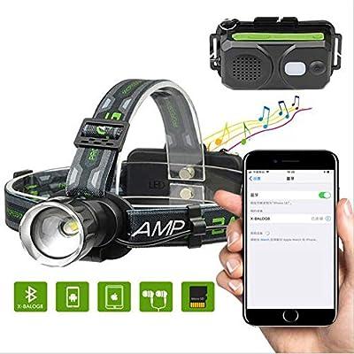 Led Headlights Glare Headlights Smart Bluetooth Stereo Headlights Outdoor Long-Range Focus Usb Flashing Headlights