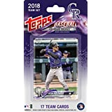 Colorado Rockies 2018 Topps Factory Sealed Special Edition 17 Card Team Set with Nolan Arenado and Trevor Story Plus