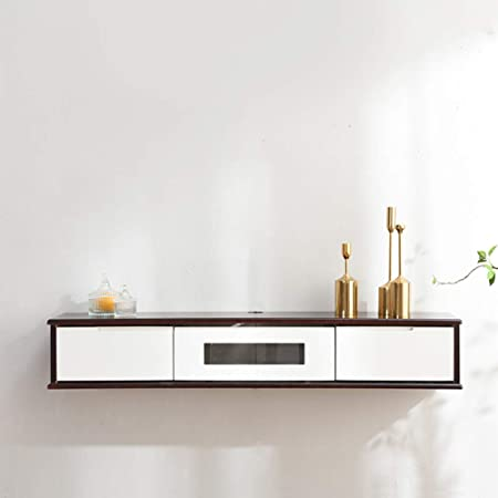 SXFYZCY Mueble de TV suspendido Mueble de TV montado en la Pared Gabinete de Pared Sala de Estar Moderna y Simple Colgador de decodificador en Rack Gabinete de TV Estrecho: Amazon.es: Hogar