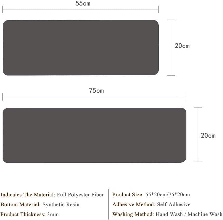 PVC Autoadhesivo,D4,20 55cm 15 Piezas Alfombras para Escaleras Alfombrillas para Pelda/ños del Protectores Antideslizante Rugs