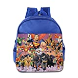Kids Justice League Unlimited School Backpack Style Baby Children School Bags RoyalBlue