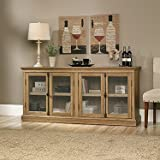 Sauder 414722 Scribed Oak Finish Barrister Lane Storage Credenza