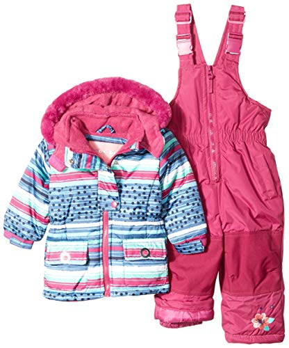 Wippette Baby Girls & Toddler Insulated Snowsuit, Striped Plum, 4T