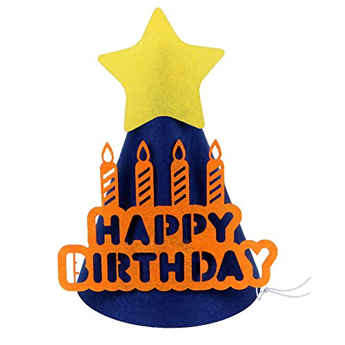 LOVELY BITON(TM) Large Gold Happy Birthday Hat Crown Party Decorations for Children and Adults (King Outfits For Adults)