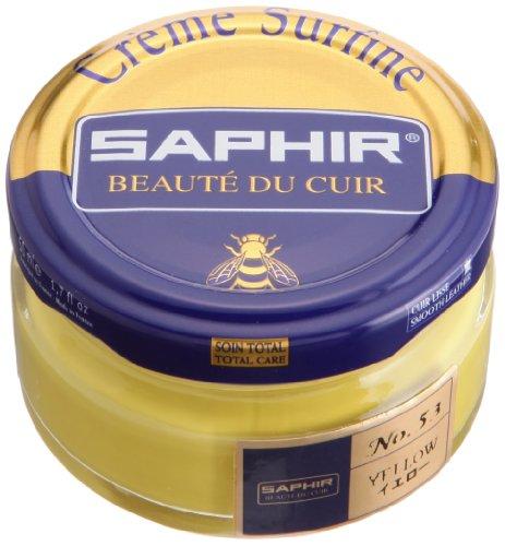 Saphir Shoe Cream Beaute du Cuir Creme Surfine 50ml glass jar (Yellow)