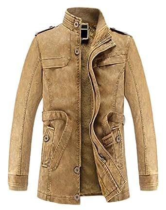 Qiangjinjiu Men's Winter Jacket Outwear Cotton Military