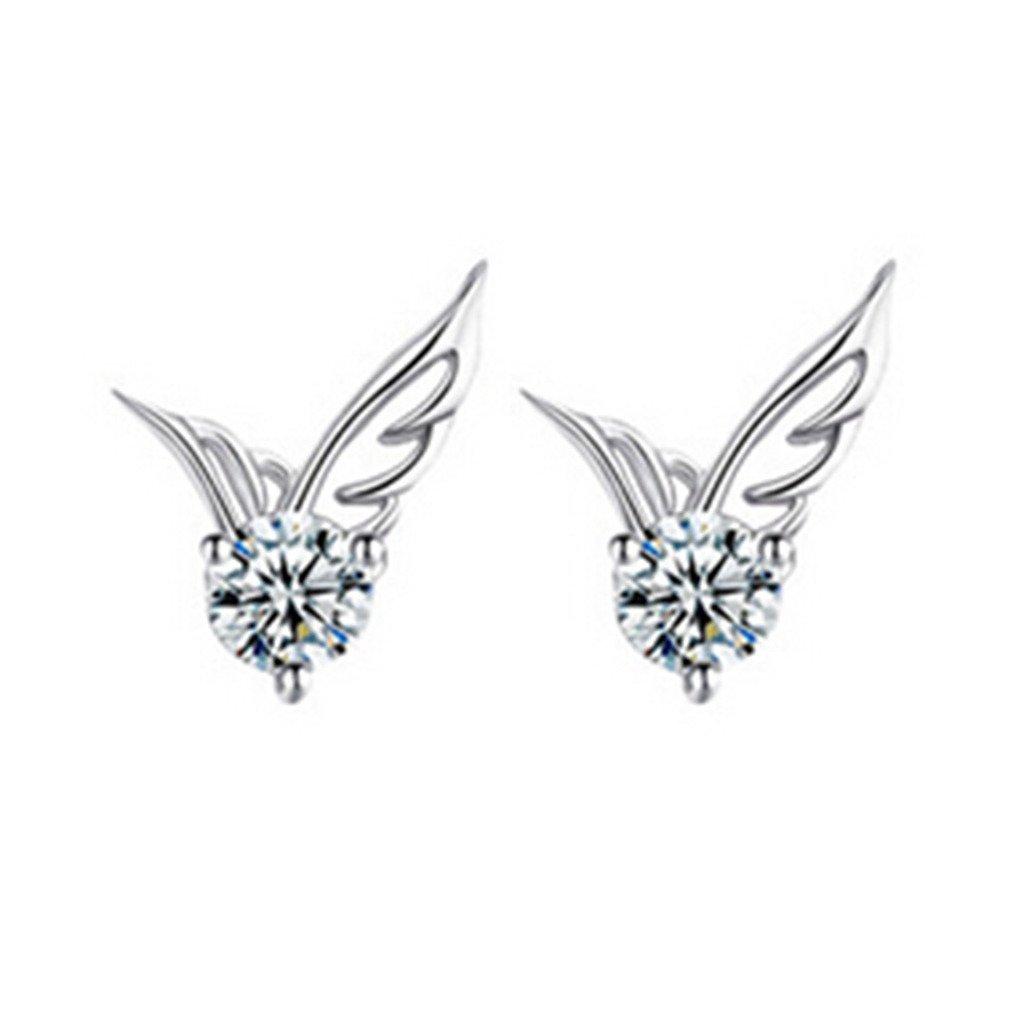 Acxico 925 Sterling Silver Fashion Earrings Lovely Birds Stud Earrings Women Earrings,1 Pair