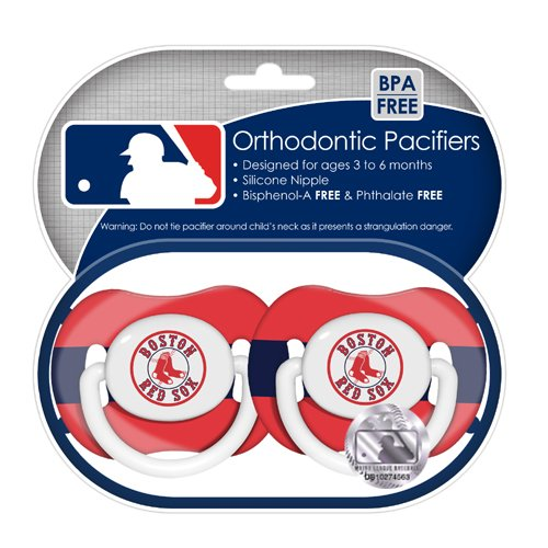 MLB Boston Red Pacifiers 2 Pack