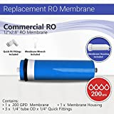 Max Water Reverse Osmosis Big Flow Commercial RO Membrane 200 GPD with Housing