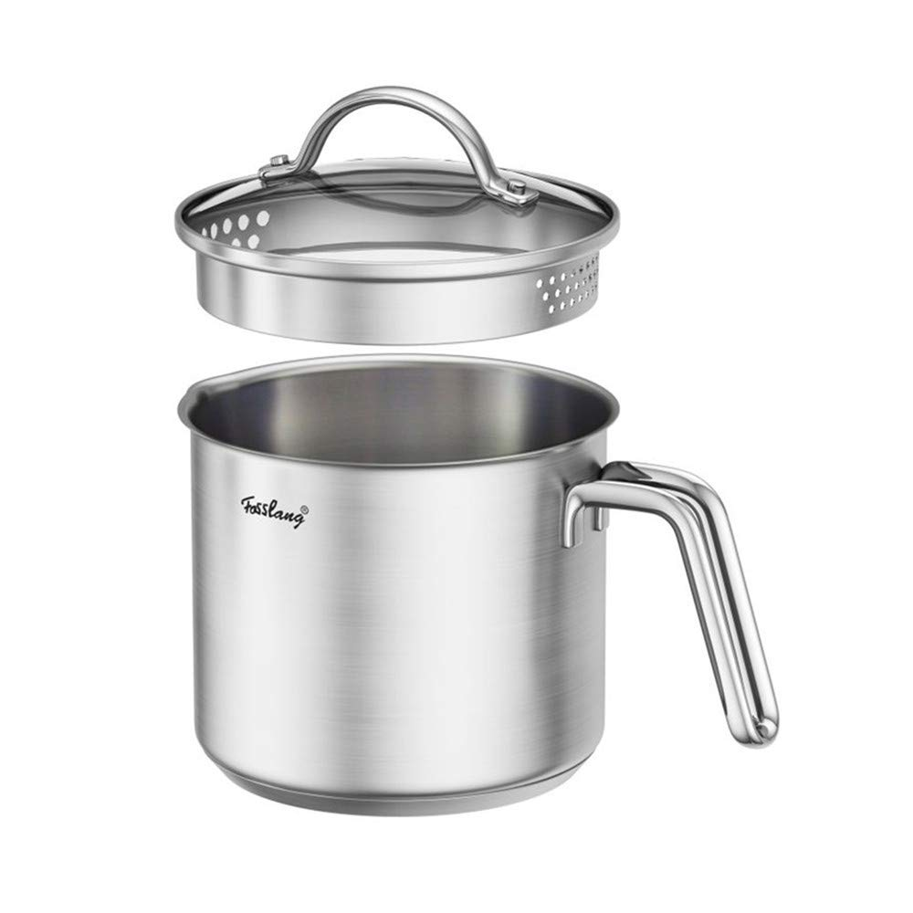 1.5 Quart Stainless Steel Saucepan With Pour Spout, Saucepan With Lid, Mini Milk Pan With Spout - Perfect For Boiling Milk, Sauce, Gravies, Pasta, Noodles by DCIGNA (Image #1)
