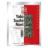 Kaneyama Yaki Sushi Nori/Dried Seaweed, Vacuum Packed/Re-Sealable, Premium Gold Grade, Half, 100 Sheets