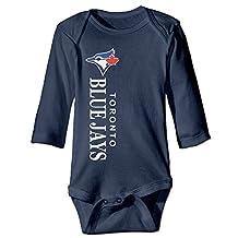Infant Boys' Toronto Blue Jays Logo Romper Jumpsuit Bodysuit