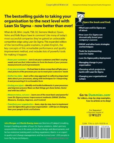 Amazon Com Lean Six Sigma For Dummies 9781119953708 John Morgan