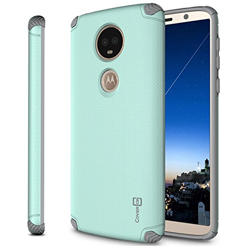 CoverON Magnetic Hard Slim Fit Bios Series for Motorola Moto E5 Plus/Moto E5 Supra Case, Powder Blue