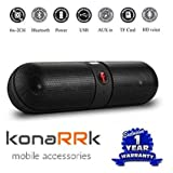 KONARRK Wireless Bluetooth Stereo Pill Speaker for Android/iOS Devices (Color May Vary)