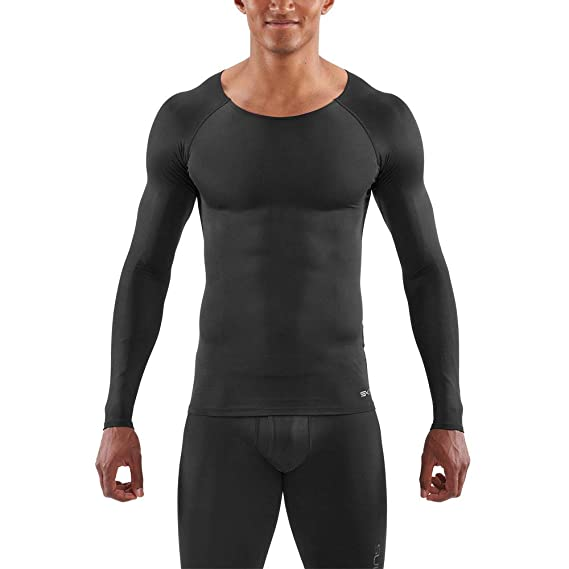 cebafab75b Skins DNAmic Base Long Sleeve Compression Top - SS19 Black: Amazon.co.uk:  Clothing