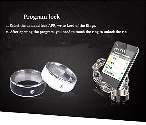 NFC smart ring titanium steel phone NFC chip Lord of the Rings smart wear  smart bracelet
