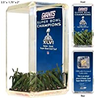 New York Giants Super Bowl XLVI Game Used Turf Mini Desktop