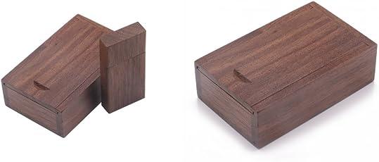 Baoblaze Paquete de 2 (8G + 4G) Memory Stick Cuboid USB Flash Wood Drive con Caja
