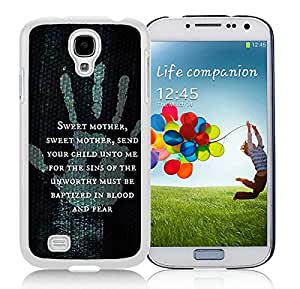 Samsung Galaxy S4 The Elder Scrolls V Skyrim White Screen Cellphone Case Unique and Genuine Design