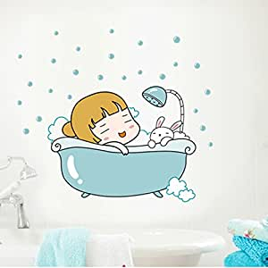Cartoon is lovely stick at will I love next zao originality sticks children room bathroom metope to be able to remove adornment small stick