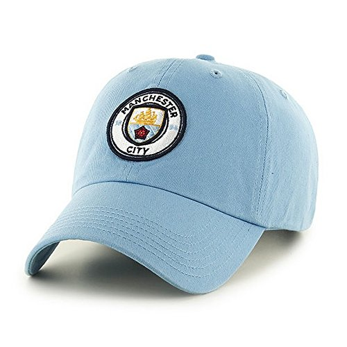 Manchester City FC Adults Official Football/Soccer Crest Baseball Cap (One Size) (Sky - Shops Hat Manchester
