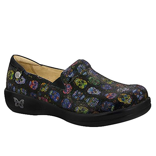 Skull Slip On - Alegria Keli Womens Slip-On Shoe Sugar Skulls Dottie 11 M US