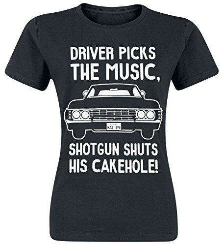 Supernatural Driver Picks Camiseta Mujer Negro Negro