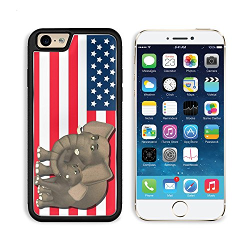State Mascot Baby Mobile (MSD Premium Apple iPhone 6 iPhone 6S Aluminum Backplate Bumper Snap Case iPhone6 IMAGE ID: 13768414 Illustration of a mother with a baby in front of the flag of the united states of america)