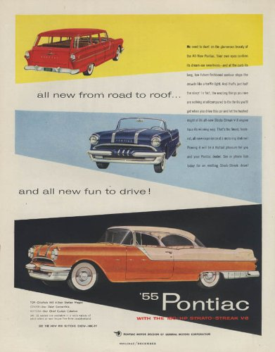 All new from road to roof Pontiac Chieftain & Star Chief ad 1955 H
