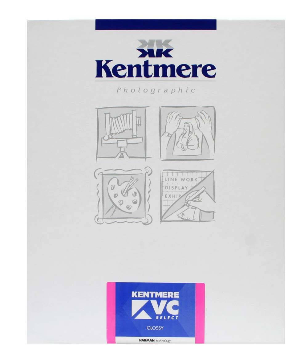 Kentmere VC Select, Variable Contrast Medium Weight RC Glossy Paper, 8x10'', 100 Sheets by Kentmere