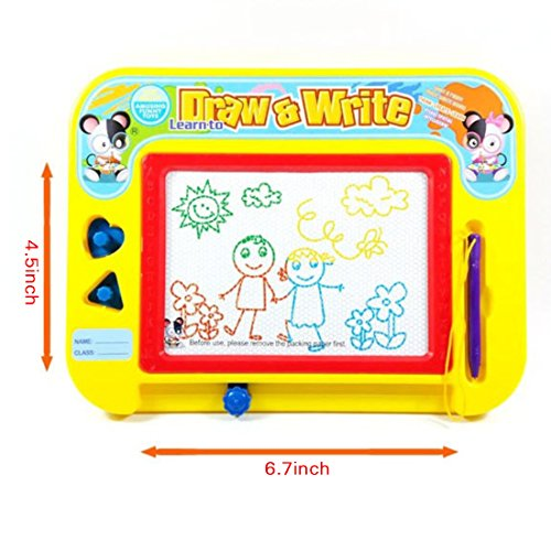 awing Board for Kids with 2 Stamps and 1 Pen, Travel Size (Magnetic Stamp Set)