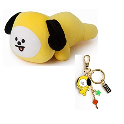PINGJING BTS Bangtan Boys Cartoon Plush Toy Napping Pillow Soft Mini Pillow Cushion with Key Chain (CHIMMY): Toys & Games