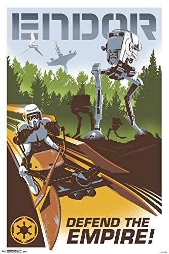 Trends International 24x36 Star Wars-Endor Premium Wall Post