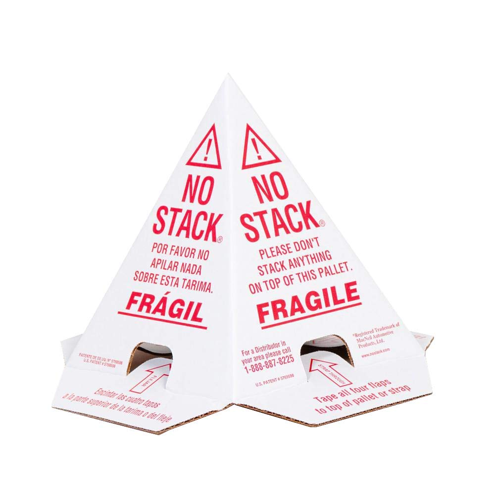 SuperiorBrands No Stack Cones - Red/White Tri-Lingual 8'' x 8'' x 10'' 200-Pack