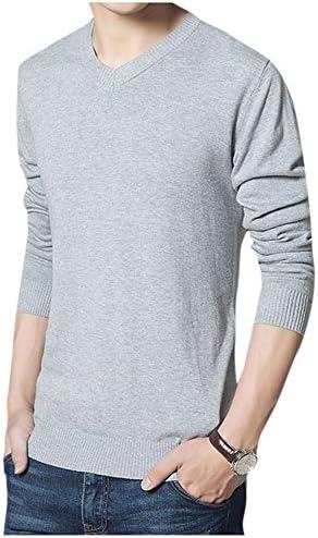 ソリッドカラー シンプル Vネック ニット 定番 セーター トップス M メンズ