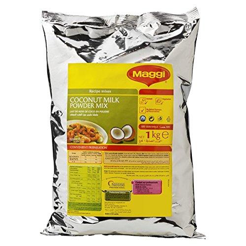 MAGGI leche de coco en polvo, Bolsita 1kg (Pack de 6 x 1 kg